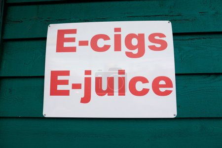 E-cigs and E-juice Vaping Advertisement Sign