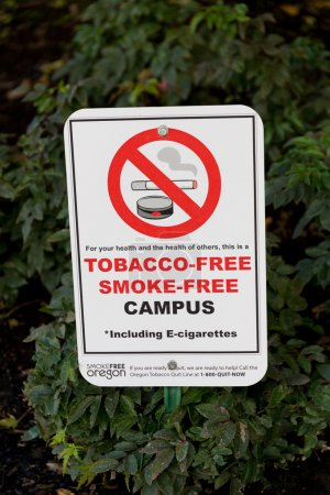 Tobacco and Smoke Free Campus Sign