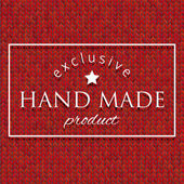 Hand made knit pattern background