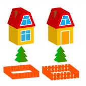 Isolated isomatic small house Vector illustration