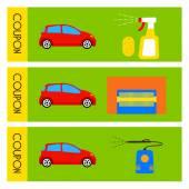 Car wash car wash banner discount coupon Vector illustration for your design