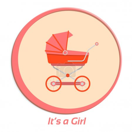 Its a girl. Flat vector illustration for your design.