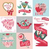 Valentines day elements collection