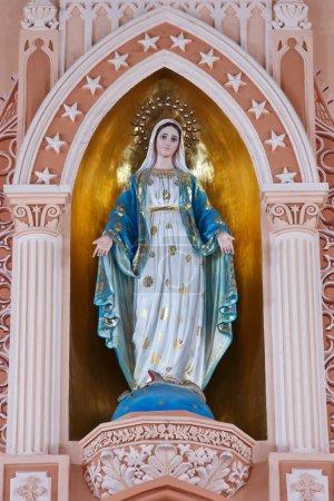 Virgin Mary Statue in Roman Catholic Church at Chanthaburi Provi