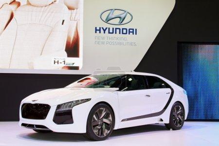 NONTHABURI NOVEMBER 28 Hyundai display