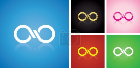 Vector infinitely logo design, different variables...