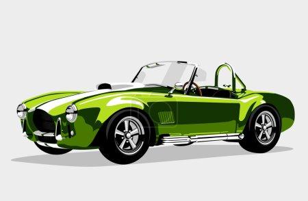 Classic sport green car AC Shelby Cobra Roadster