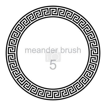 Round ornament meander pattern