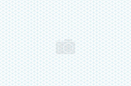 Illustration for Template isometric grid seamless pattern, vector illustration, EPS 10 - Royalty Free Image