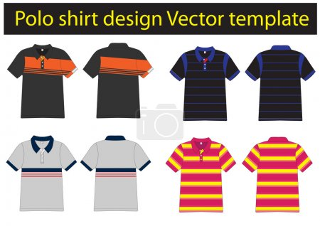 Polo shirts design templates