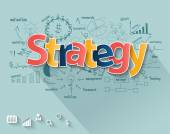 Business strategy concept, With creative drawing charts