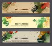 Banners with abstract patterns