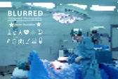 Vector blurred with surgeon at work in operating room