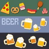 beer and snacks banner pixel set