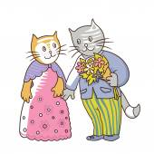 cats couple in love 2