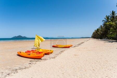 Kayak Canoes Beach Ocean
