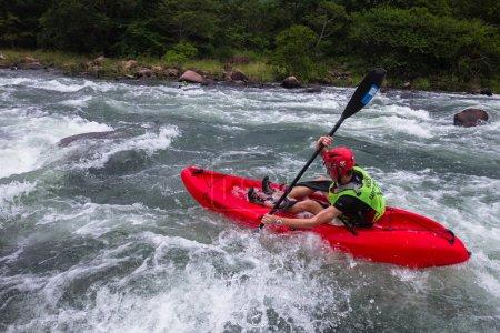Kayaks River Action