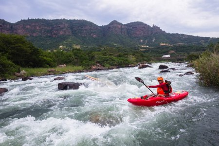Kayaks River Action