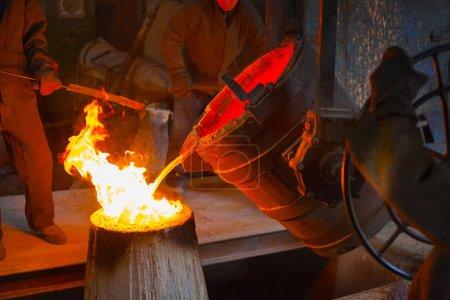 metal casting in the workshop