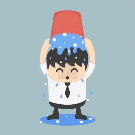 Illustration for Ice bucket Challenge Business EPS.10 - Royalty Free Image