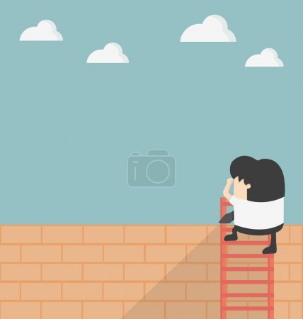Illustration for Over the Wall - Royalty Free Image