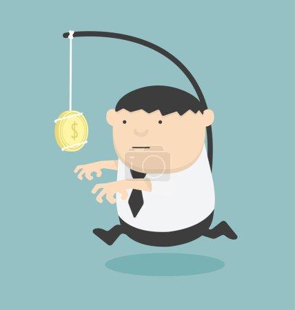Bait business Cartoons concepts .vecto