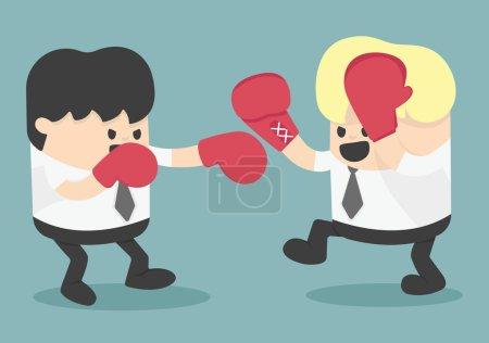 Illustration for Businessman fighting - Royalty Free Image
