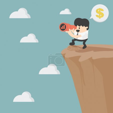 Illustration for Businessman looking on investment - Royalty Free Image