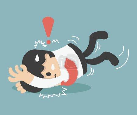 Illustration Cartoons concepts Businessman falls
