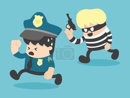 police escapes Thief