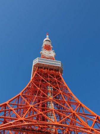 Photo pour 332,6 mètres haute tour de Tokyo, tour de transmission est situé dans le parc de Shiba, Minato, Tokyo, Japon - image libre de droit