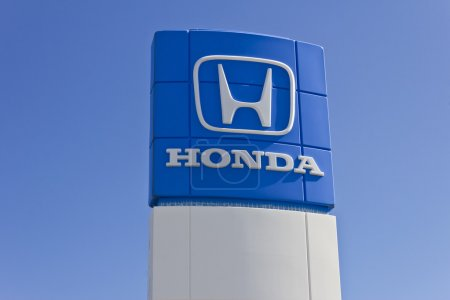Indianapolis - Circa June 2016: Honda Motor Co. Logo and Sign. Honda Manufactures Among the Most Reliable Cars in the World I