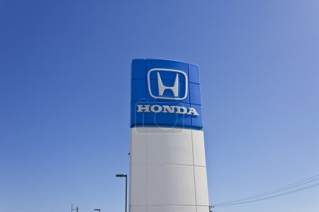 Indianapolis - Circa June 2016: Honda Motor Co. Logo and Sign. Honda Manufactures Among the Most Reliable Cars in the World II