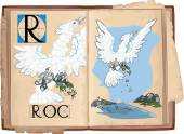 letter R with Roc bird