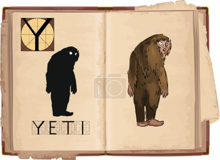 letter Y with Yeti