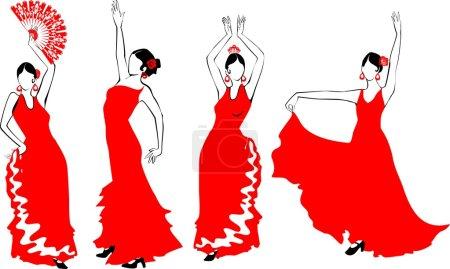 Flamenco Dancer set