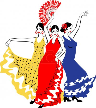 Wpmen dancers Sevillanas