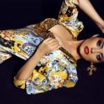 Fashion studio photo of beautiful brunette woman w...