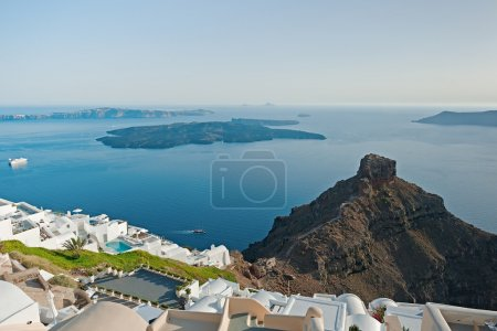 Caldera view from Imerovigli terrace at Santorini, Greece 2
