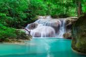 Waterfall in the deep Jungle at Erawan National Park