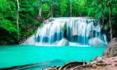 Waterfall in deep forest at Erawan National Park