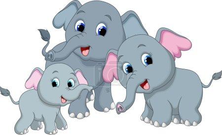 Illustration pour Mignon éléphant dessin animé - image libre de droit