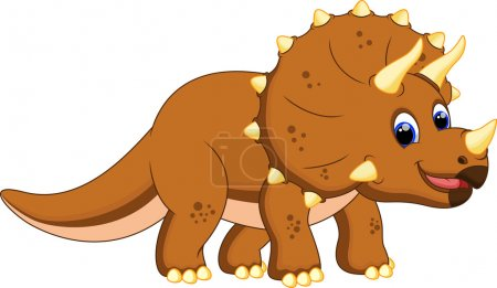 Cute triceratops cartoon...