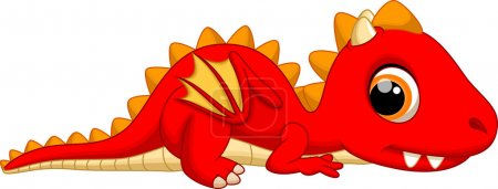 Cute baby dragon cartoon...