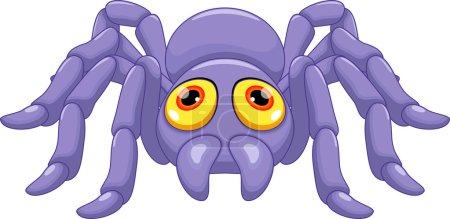 Cute tarantula cartoon