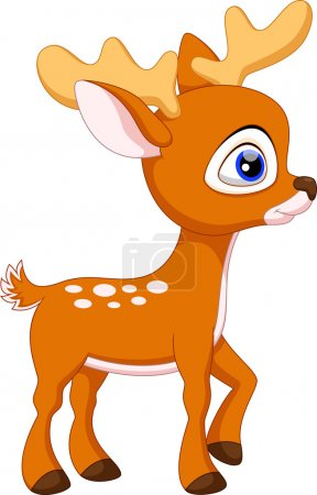 Illustration for Cute deer cartoon on a white background - Royalty Free Image