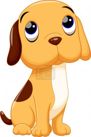 Illustration for Cute dog cartoon on a white background - Royalty Free Image