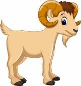 Cute goat cartoon on a white background