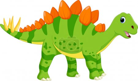 Illustration of cute stegosaurus cartoon...