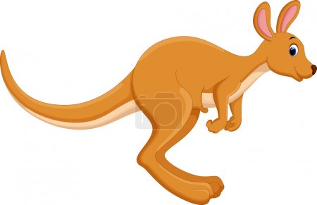 Cute kangaroo cartoon jumping